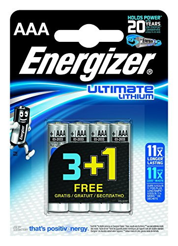 Energizer Ultimate Lithium Micro AAA 1,5V 3+1 Vorteilspack