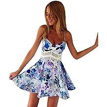 a0dfbc220df Malloom® Doux Impression fantaisie femmes magnifique robe fleur jupe ...