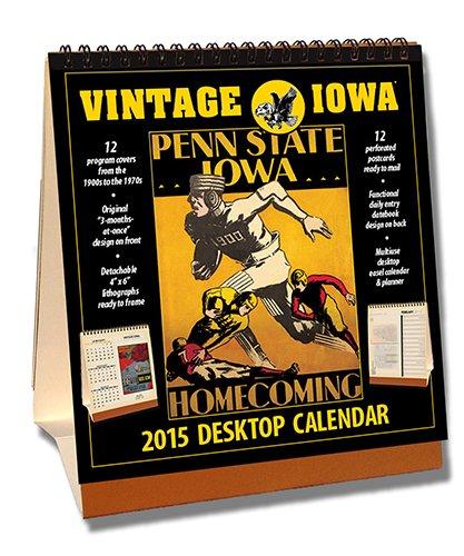 Iowa Hawkeyes 2015 Easel Desktop Vintage Football Calendar - Desktop-kalender-easel