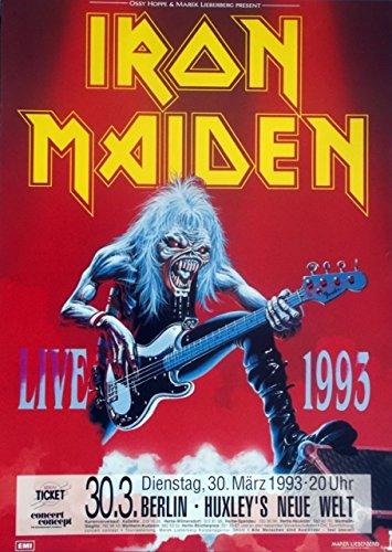 Iron Maiden   1993   concierto cartel   Concert