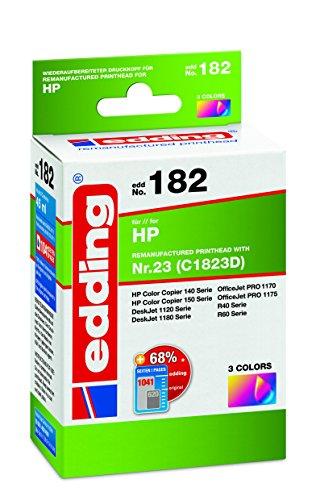 edding 18-182 Druckerpatrone EDD-182, Ersetzt: HP Nummer 23 (C1832D), Einzelpatrone, 3-farbig