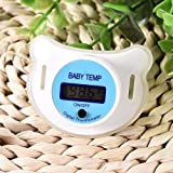 Baby-Schnuller-Thermometer Portable mit schützender Speicher-Abdeckungs-Sicherheits-Gesundheits-Nippel Gesundheitsthermometer (Farbe : Hua celsius blue)
