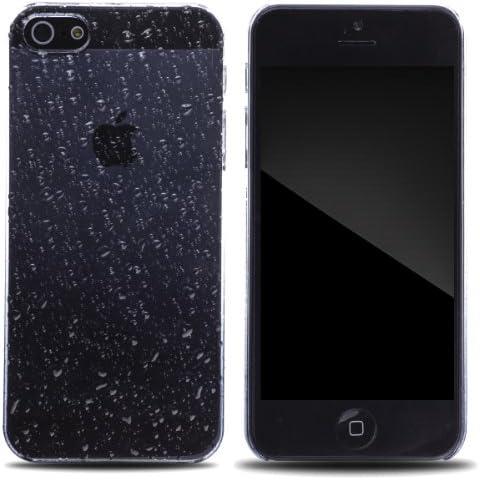 Zooky® negro plastica gota de agua FUNDA / CARCASA / COVER para Iphone 5 y iphone 5S