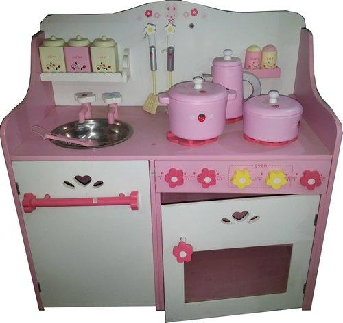 TZ-D1404-Spielkche-aus-Holz-fr-Kinder-Rosa-Kinderkche