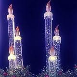 Velas solares con luces solares, sin llama, lámpara de energía solar, LED, para Halloween, jardín, festival, yard bar, fiesta de boda