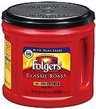 #7: Folgers Classic Roast Medium Ground Coffee, 865g [Imported, Rich & Pure Taste]