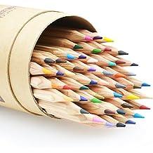 Minhe 48 Lápices de Colores, Premium Base de aceite Lápices de Dibujo Profesional para adulto para colorear libros