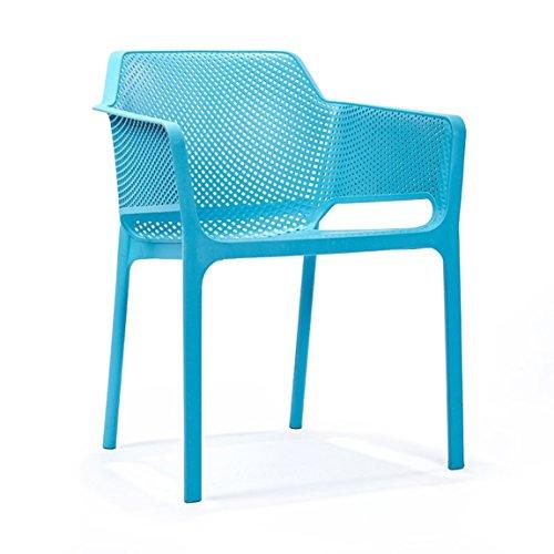 PLL Nordic Leisure Handläufe Startseite Esszimmerstuhl Modern Minimalist Outdoor Freizeit Kunststoff Rückenlehne Stuhl Hocker -