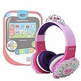DURAGADGET Cuffie Bambina Principessa - Compatibili con console Clemstation 5.0 - Colore Rosa