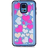 Coque transparente Grands coeurs phosphorescent Samsung Galaxy S5 G900