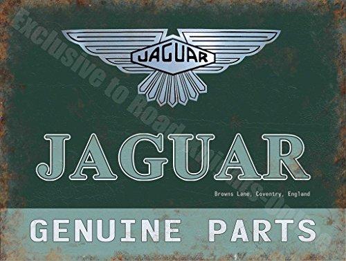 Jaguar Originale Ricambi Auto Garage Vintage Annuncio Metallo/Targa Da Parete In Acciaio - 30 x 40 cm