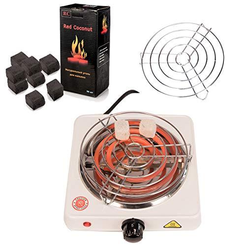 Kertou Horno eléctrico multifunción para Shisha cachimba, Potencia 1000 W, Carbón Shisha...