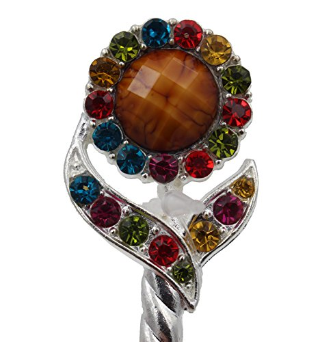 totoroforet-silver-plated-hair-pin-with-sunflower-rhinestones-double-color