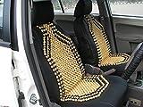 #8: AutoSun Premium Quality Car Wooden Bead Seat Cover Set Of 1 For Hyundai Santro Xing