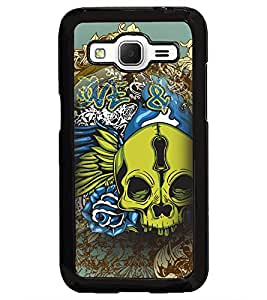 PrintDhaba skull D-4626 Back Case Cover for SAMSUNG GALAXY CORE PRIME (Multi-Coloured)