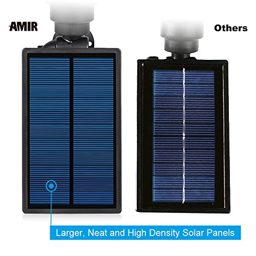 200-Lumen-Output-Amir-LED-Solar-Spotlight-Solar-Powered-Outdoor-Wall-Light-Waterproof-180angle-Adjustable-Auto-on-At-NightAuto-off-By-Day-Solar-Outdoor-Lighting-Spotlights-Security-Lighting-Path-Light