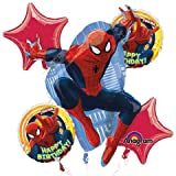 Amscan Ultimate Spider-Man Birthday Bouquet Foil Balloons