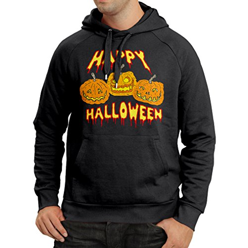 Kapuzenpullover Happy Halloween! Party Outfits & Costume - Gift Idea (X-Large Schwarz Mehrfarben) (Elvis Kid Kostüme)