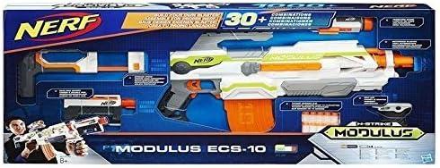 Hasbro Nerf B1538EU4 N-Strike Modulus ECS-10 Blaster, Mirino di Precisione, Versione Italiana