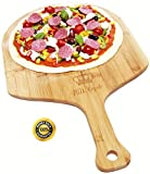 Pizza Royale Ethically Sourced Premium Natural Bamboo Pizza Peel, 19.6 inch x 12