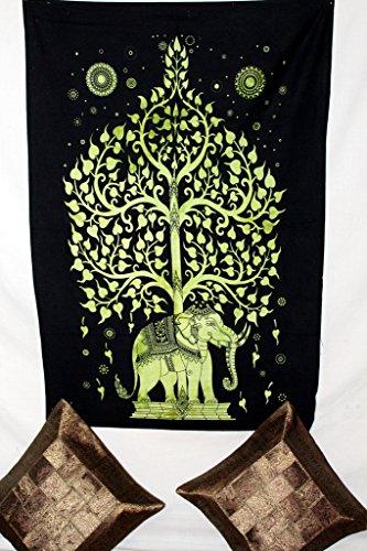 LOI Elefante con albero Hippie indiana tradizionale