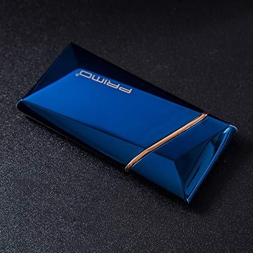 LYX Schütteln Sie die Schwerkraft Induktion ultradünne kann der Draht Ändern Sie auf USB-personifizierte elektronische Feuerzeug Zigaretten-Laden Lighter (Color : Blau)