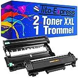 PlatinumSerie 1 Trommel & 2 Toner XXL für Brother TN-2420 DR-2400 HL-L2310D L2375DW L2370DN MFC-L2710DN L2710DW L2712DN L2712
