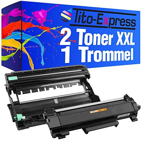Tito-Express PlatinumSerie 1 Trommel & 2 Toner XXL für Brother TN-2420 DR-2400 HL-L2310D L2375DW L2370DN MFC-L2710DN L2710DW L2712DN L2712DW L2730DW L2732DW L2750DW L2510D L2512D L2550DN | MIT CHIP (Brother 2 1 12)
