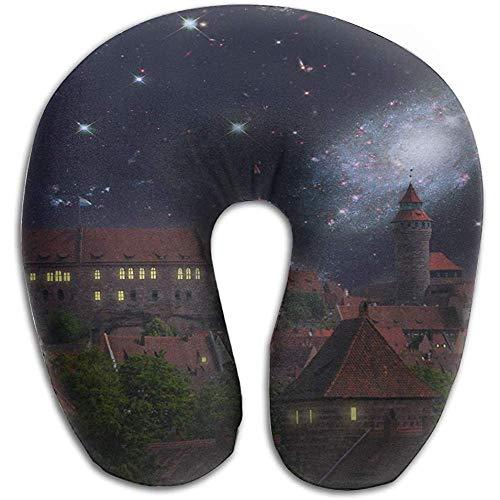 Reisekissen, Gtrgh Nürnberg Castle Space Moon Super U Typ Kissen Nackenkissen Outdoor Reisekissen Linderung Nackenschmerzen