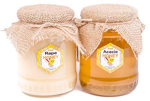 Miel de Acacia de Polaco. Fresco 2017. Sin pasteurizar, miel cruda. 2 kg. Directamente del apicultor.