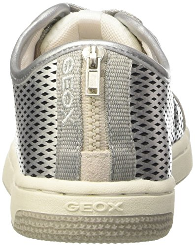 Geox Creamy F, Baskets Basses Fille Argent (C1007)