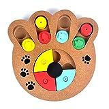 InterActive trattati in legno, S7Seven Pet Dog Slow food Paw puzzle attività giocattolo