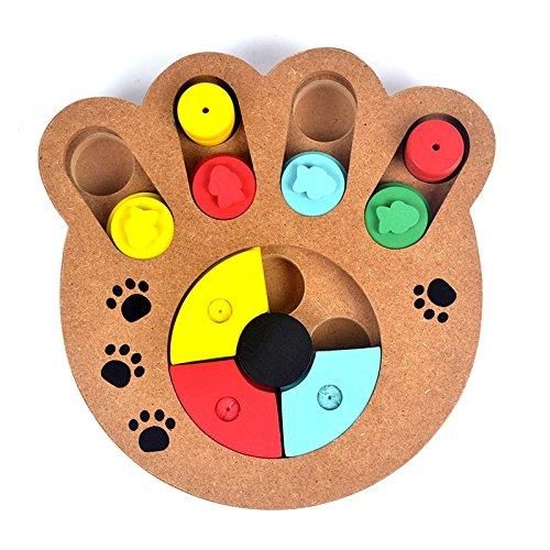Interactivo de madera tratada, S7siete mascota perro Slow Food Paw Puzzle...