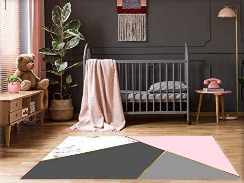Alfombra Mármol Colores Suelo Habitación Infantil