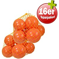 Kawanyo Mobility Balón de fútbol, 26cm diámetro, pilates y gimnasia, d) 16x orange 26cm Ø