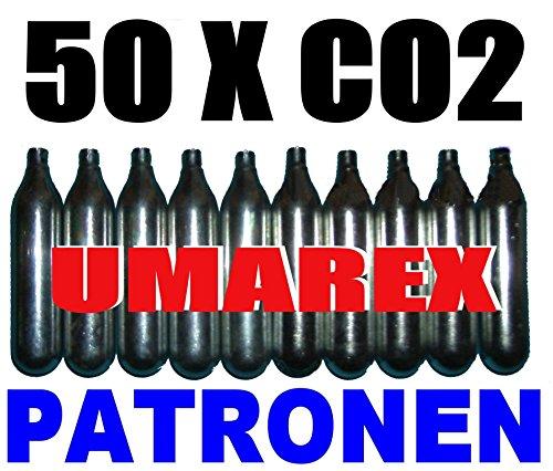50 x 12g Co2 Kapseln für Softair, Painball, Luftpistolen oder Luftgewehre