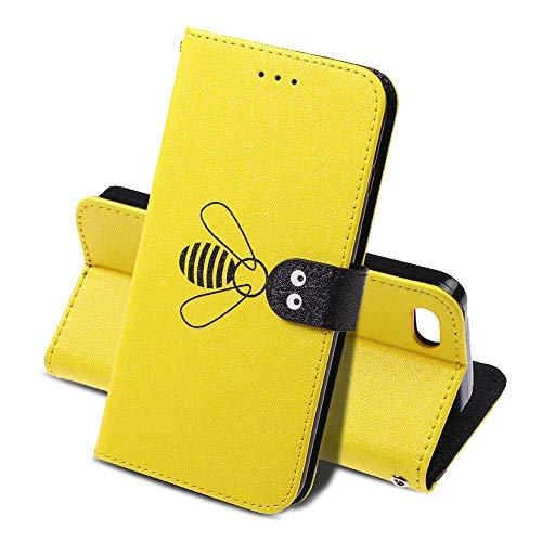 ToDo Kompatibel mit iPhone 5S Flip Hülle Leder Hülle Flip Case Wallet Stylish mit [Standfunktion] [Kartenfächern] Schutzhülle handyhüllen passt PU-Leder Brieftasche Handyhülle