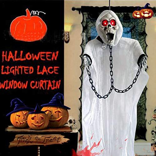 QHJ Halloween Accessoires, Halloween Bar Haunted Room Escape Raumdekoration Anzieh Requisiten Gruselige Schauende Geist Horror Weiße Geiststütze Halloween Dekorationen (B) (Haunted Geist Kostüm)
