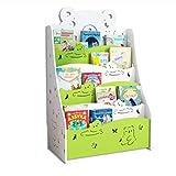 Brilliant firm La combinación simple de los estantes de pupitre de aterrizaje de los niños estante de exhibición del libro (Color : Green)