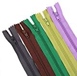 #9: VGR Trade Link Auto Lock Zips 16 inches, Multicolored 130 Zips, Used in Bags, Handbags,Pants,Children Frocks,Plazos,Dresses, Ladies Suits Etc
