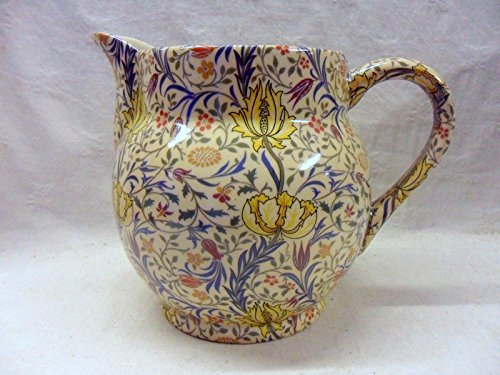 William Morris Flora Design Large Dutch Jug By Heron Cross Pottery
