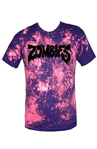 TRVPPY Batik Herren T-Shirt Shirt mit vielen verschiedenen Motiven, Gr. XS-XXL Zombies-Schwarz