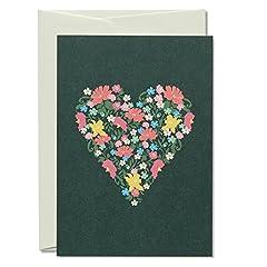 Idea Regalo - Avena Grana & sauerbrey 02.001biglietti Set 5biglietti d' auguri Floral heart nel Set con buste diverse occasioni, made in Germany