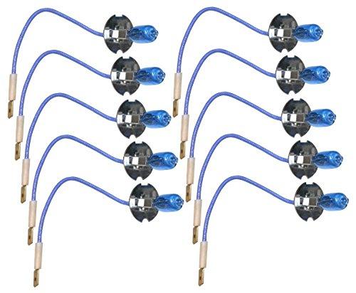 AERZETIX: Juego de 10 bombillas H3 12V 55W con efecto Xenon C2034