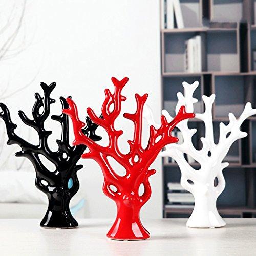 Ywyun Creativo decorazione moderna minimalista accessori per la casa, ceramiche soggiorno / camera da letto arredamento Pachira, 30 * 23cm ( Colore : Bianca )