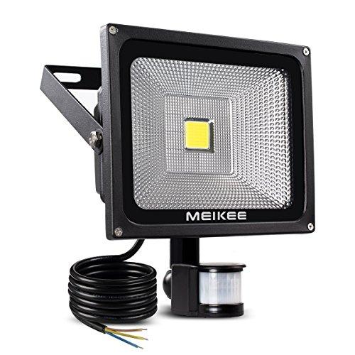MEIKEE 30W LED Strahler Scheinwerfer fluter Licht Floodlight Außenstrahler Wandstrahler Schwarz Aluminium IP65 Wasserdicht AC 85-265V Tageslichtweiß
