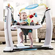 ExerSaucer Jump & Learn™ Jam Session Stationary Baby Jumper 4m+, White &a