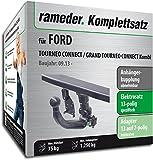 RAMEDER Komplettsatz, Anhängerkupplung abnehmbar + 13pol Elektrik für FORD TOURNEO CONNECT / GRAND TOURNEO CONNECT Kombi (122107-11574-1)