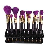 Make up Pinselhalter Ovale 15 foro porta pennelli di trucco Stendino Organizzatore cosmetici Shelf Strumento,nero,Fami immagine