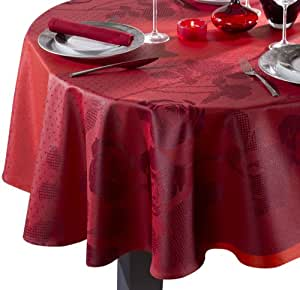 Nydel 378139 Ruby Nappe Ovale Rouge 170 x 270 x 0,2 cm
